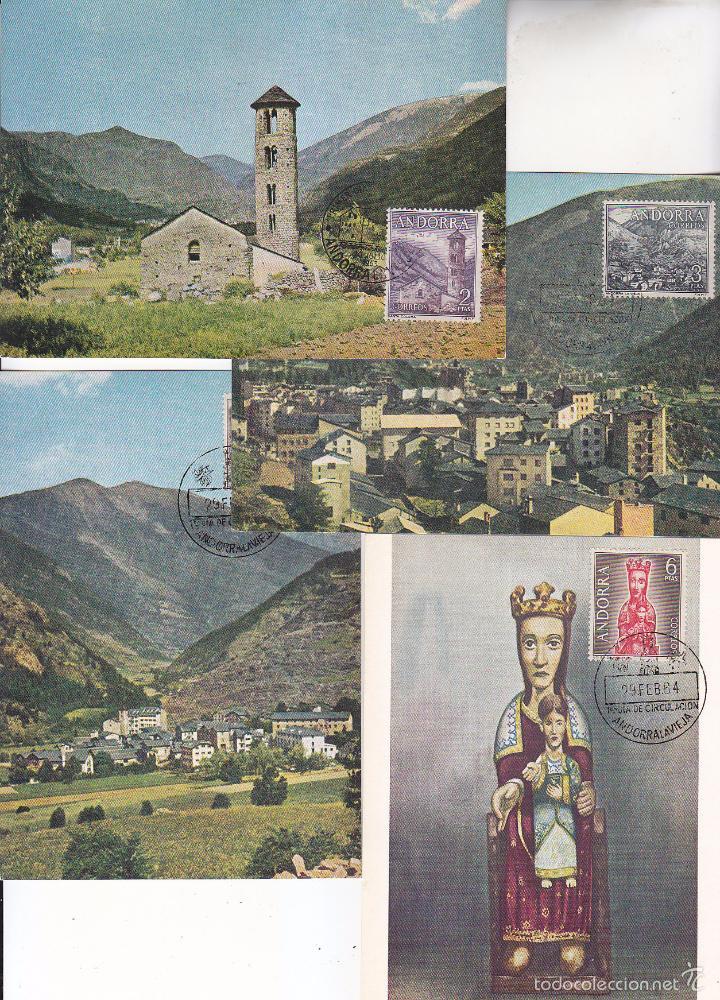 Sellos: ANDORRA ESPAÑOLA TIPOS DIVERSOS 1963-1964 (EDIFIL 60/67) EN OCHO TARJETAS MAXIMAS PRIMER DIA. MPM. - Foto 3 - 34885007