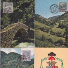 Sellos: ANDORRA ESPAÑOLA TIPOS DIVERSOS 1963-1964 (EDIFIL 60/67) EN OCHO TARJETAS MAXIMAS PRIMER DIA. MPM.. Lote 34820709