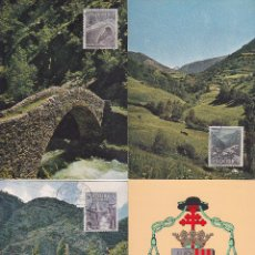 Sellos: ANDORRA ESPAÑOLA TIPOS DIVERSOS 1963-1964 (EDIFIL 60/67) EN OCHO TARJETAS MAXIMAS. RARAS ASI. MPM.. Lote 34740803