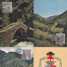 Sellos: ANDORRA ESPAÑOLA TIPOS DIVERSOS 1963-1964 (EDIFIL 60/67) EN OCHO TARJETAS MAXIMAS PRIMER DIA. MPM.. Lote 34788985