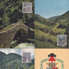 Sellos: ANDORRA ESPAÑOLA TIPOS DIVERSOS 1963-1964 (EDIFIL 60/67) EN OCHO TARJETAS MAXIMAS. RARAS ASI. MPM.. Lote 34939004