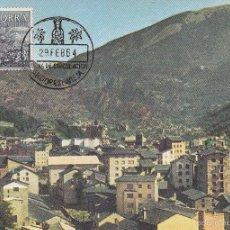 Sellos: ANDORRA ESPAÑOLA TIPOS DIVERSOS 1963-1964 (EDIFIL 65) EN BONITA TARJETA MAXIMA PRIMER DIA. MPM.. Lote 28546878