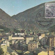 Sellos: ANDORRA ESPAÑOLA TIPOS DIVERSOS 1963-1964 (EDIFIL 65) EN BONITA TARJETA MAXIMA PRIMER DIA. MPM.. Lote 34663143
