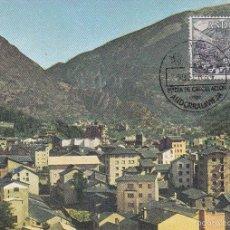 Sellos: ANDORRA ESPAÑOLA TIPOS DIVERSOS 1963-1964 (EDIFIL 65) EN BONITA TARJETA MAXIMA PRIMER DIA. MPM.. Lote 34895523