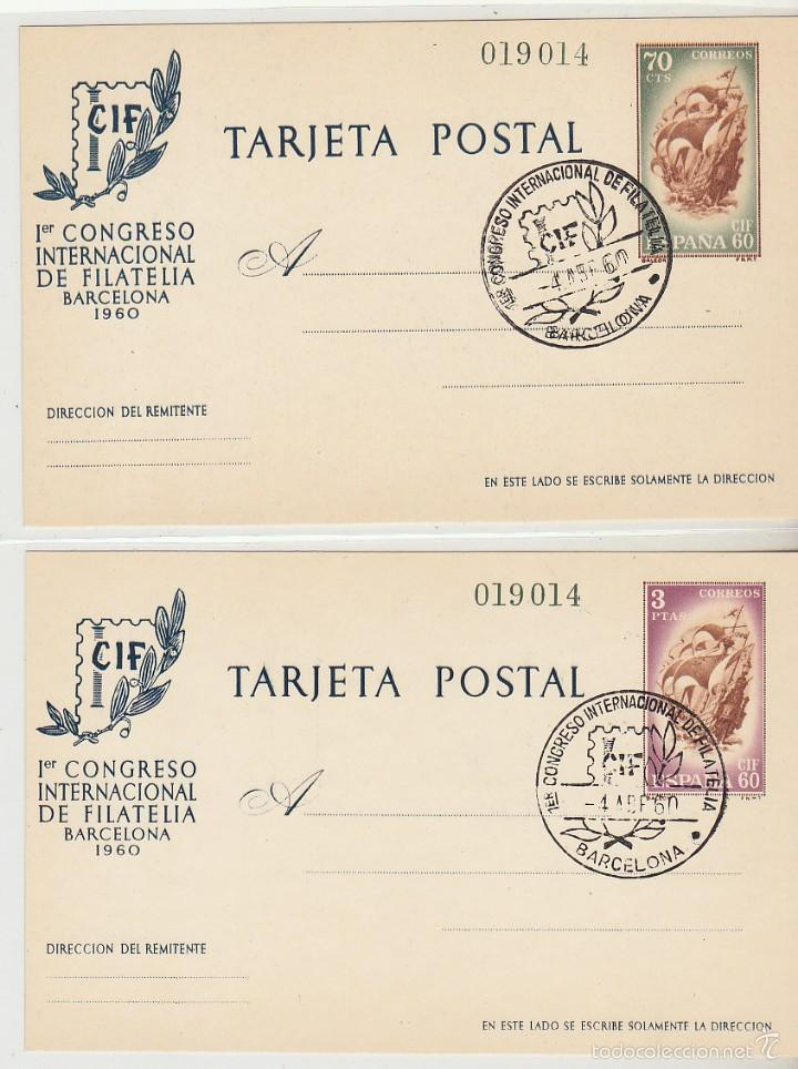 M.E. 88/9 CONGRESO INTERNACIONAL DE FILATELIA 1960 (Sellos - España - Dependencias Postales - Entero Postales)