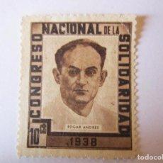 Sellos: SELLO BENEFICENCIA CONGRESO NACIONAL DE LA SOLIDARIDAD 10 CENTIMOS NUEVO. Lote 63412608