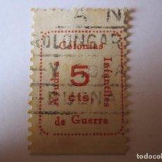 Sellos: 3 SELLOS BENEFICENCIA COLONIAS INFANTILES AYUDA DE GUERRA 5 CENTIMOS . Lote 63435792