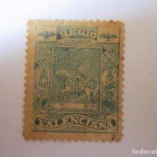 Sellos: SELLO BENEFICENCIA REGIO UNIO VALENCIANA S/C . Lote 63486656