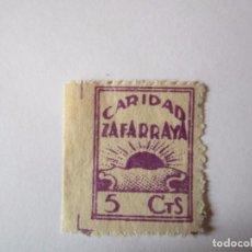 Sellos: SELLO BENEFICENCIA CARIDAD ZAFARRAYA 5 CENTIMOS NUEVO . Lote 63486808