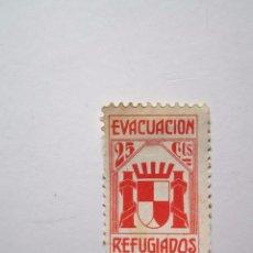 Sellos: SELLO BENEFICENCIA EVACUACION REFUGIADOS 25 CENTIMOS S/C . Lote 63488248