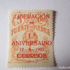 Sellos: SELLO BENEFICENCIA LIBERACION FUENTE DE PIEDRA 5 CENTIMOS NUEVO. Lote 63517944