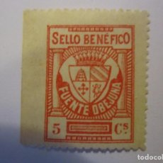 Sellos: SELLO BENEFICENCIA FUENTEOVEJUNA 5 CENTIMOS NUEVO. Lote 63617163