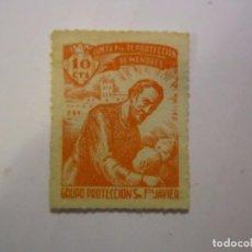 Sellos: SELLO BENEFICENCIA JUNTA PROTECCION DE MENORES 10 CENTIMOS RARO NUEVO. Lote 63620075