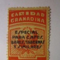 Sellos: SELLO BENEFICENCIA CARIDAD GRANADINA PARA BARES 5 CENTIMOS NUEVO. Lote 63620887