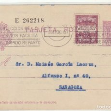 Sellos: 57 NAAFBE.A.LAIZ. BARCELONA A ZARAGOZA 1930. Lote 64449951