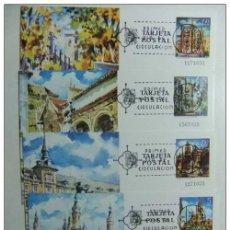 Sellos: ESPAÑA 1973 BARCELONA MADRID CÓRDOBA ZARAGOZA 1 º DÍA CIRCULACIÓN EDFIL Nº 101 /104 USADOS. Lote 66059702