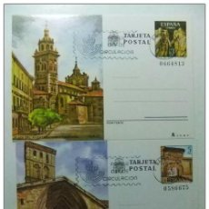 Sellos: ESPAÑA 1980 ENTERO POSTAL LOGROÑO Y TERUEL EDIFIL Nº123 /124 1º DIA DE CIRCULACION 11/6/80. Lote 66064882