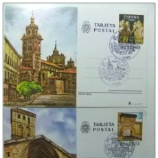 Sellos: ESPAÑA 1980 ENTERO POSTAL LOGROÑO Y TERUEL EDIFIL Nº 123 / 124 1º DIA DE CIRCULACION 11/6/80. Lote 66065490