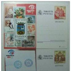 Sellos: ESPAÑA 1984 ENTERO POSTAL EDIFIL Nº 135 /136 EXPOSICION MUNDIAL DE FILATELIA NUEVAS. Lote 66072778