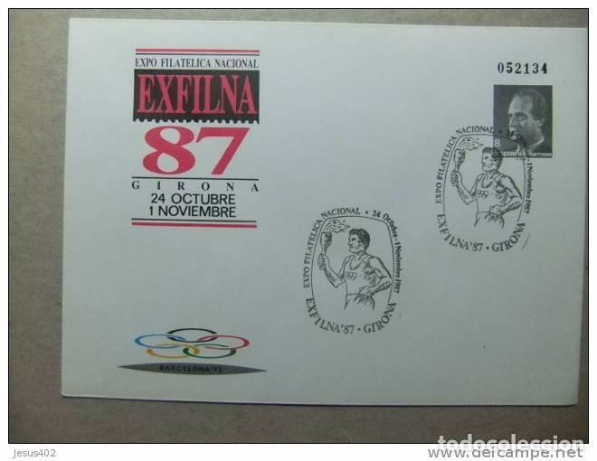 Sellos: EXPOSICION FILATELICA NACIONAL EXFILNA 87 MATASELLADOS PRIMER DIA ,TRES SOBRES DIFERENTES - Foto 3 - 66085042