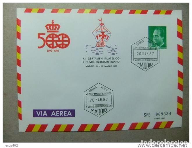 ESPAÑA 1987 500 AÑOS DESCUBRIMIENTO DE AMERICA PRIMER DIA DE CIRCULACION+NUEVA (Sellos - España - Dependencias Postales - Entero Postales)