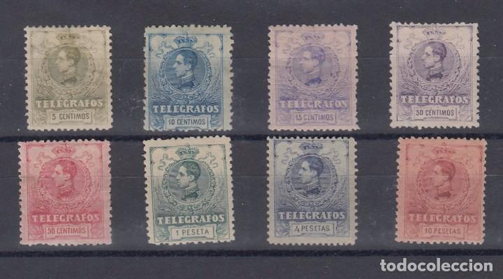 0013 TELEGRAFOS Nº 47/54 CON CHARNELA (Sellos - España - Dependencias Postales - Telégrafos)