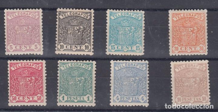 0014 TELEGRAFOS 55/62 CON CHARNELA EL Nº 62 SIN GOMA (Sellos - España - Dependencias Postales - Telégrafos)