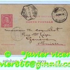Sellos: ENTERO POSTAL PORTUGAL 1903 ESCRITA DE PORTUGAL A SUIZA. Lote 74506847