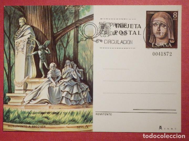 ESPAÑA -1978 - MONUMENTO A BEQUER - SEVILLA - EDIFIL 118 - ENTERO POSTAL PRIMER DÍA CIRCULACIÓN (Sellos - España - Dependencias Postales - Entero Postales)
