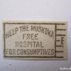 Sellos: FRANQUEO BENEFICO AL HOSPITAL DE MUSKOKA (ONTARIO,CANADA) MUY RARO. Lote 75518043