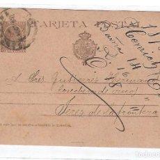 Sellos: ENTERO POSTAL. 1898. JEREZ DE LA FRONTERA, CADIZ. HENRICH Y CIA, BARCELONA. VER DORSO. Lote 75953875