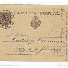 Sellos: ENTERO POSTAL. 1896. JEREZ DE LA FRONTERA, CADIZ. LIBRERIA NACIONAL Y EXTRANJERA. VER DORSO. Lote 75953963