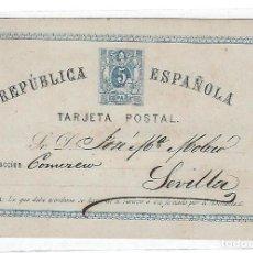 Sellos: ENTERO POSTAL. 1875. REPUBLICA ESPAÑOLA. MALAGA. VER DORSO. Lote 75955443