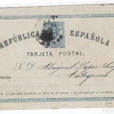 Sellos: ENTERO POSTAL. 1875. REPUBLICA ESPAÑOLA. MALAGA. VER DORSO. Lote 75955543