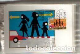 MAXIMAS- SEGURIDAD VIAL 1976 COMPLETA 3 VALORES PRIMER DIA MADRID -VER LAS FOTOS (Sellos - España - Dependencias Postales - Tarjetas Máximas)