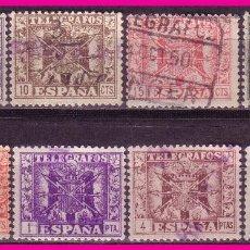 Sellos: TELÉGRAFOS 1949 ESCUDO DE ESPAÑA, EDIFIL Nº 85 A 92 (O) SERIE COMPLETA. Lote 80837403