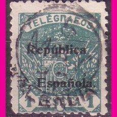 Timbres: TELÉGRAFOS 1931 ESCUDO DE ESPAÑA, HABILITADO RE, EDIFIL Nº 67 (O). Lote 80877731