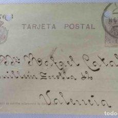 Sellos: TARJETA POSTAL BURGOS 22ENE1921. ALFONSO XIII 15CTS MEDALLÓN. Lote 83668416