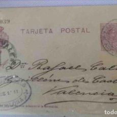 Sellos: TARJETA POSTAL BARCELONA OCT1921. ALFONSO XIII 15CTS MEDALLÓN. Lote 83668452