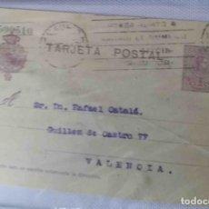 Sellos: TARJETA POSTAL MADRID AGO1923. ALFONSO XIII 15CTS MEDALLÓN. Lote 83669040