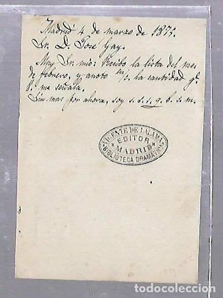 Sellos: ENTERO POSTAL. 1875. CIRCULADO DE MADRID A SAN FERNANDO, CADIZ - Foto 2 - 87485436