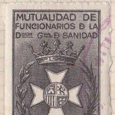 Sellos: SELLO FISCAL - MUTUALIDAD DE FUNCIONARIOS DE LA DIRECCION GENERAL DE SANIDAD 4,75 PTS. Lote 91943220
