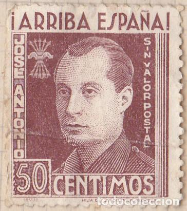 SELLO FISCAL - ARRIBA ESPAÑA - JOSE ANTONIO PRIMO DE RIVERA 50 CENTIMOS (Sellos - España - Dependencias Postales - Beneficencia)
