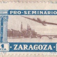 Sellos: PRO SEMINARIO ZARAGOZA - EBRO Y PILAR - 1 PTA . Lote 91951015