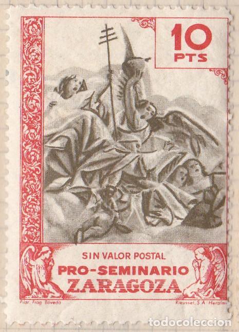 PRO SEMINARIO ZARAGOZA - PILAR FRAG BOVEDA - 10 PTS (Sellos - España - Dependencias Postales - Beneficencia)
