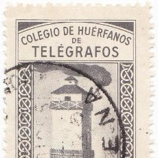 Sellos: COLEGIO DE HUERFANOS DE TELEGRAFOS - APORTACION VOLUNTARIA - 25 CENTIMOS - MATASELLOS BAENA . Lote 92246915