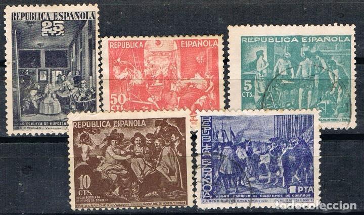 0356. SERIE COMPLETA BENEFICENCIA REPUBLICA, EDIFIL NUM 29-33 */º (Sellos - España - Dependencias Postales - Beneficencia)
