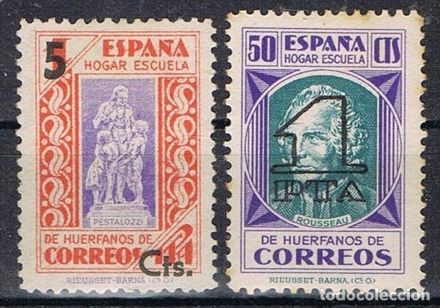 0356. SERIE COMPLETA SOBRECARGA PEDAGOGOS, BENEFICENCIA, EDIFIL NUM 27-28 * (Sellos - España - Dependencias Postales - Beneficencia)