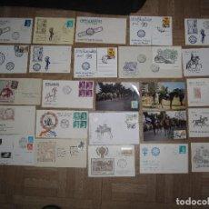 Sellos: 25 SPD SOBRES DE EXPOSICIONES Y TARJETAS MAXIMAS DE JEREZ DE LA FRONTERA. Lote 95239535