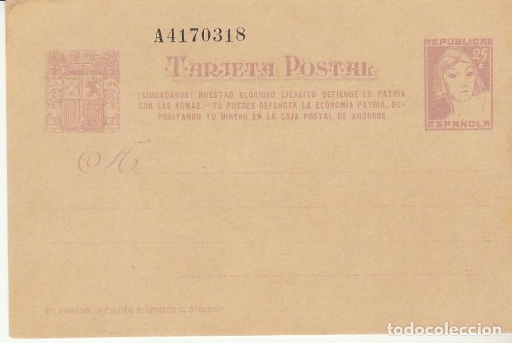 XX 77 N :MATRONA 1938 (Sellos - España - Dependencias Postales - Entero Postales)